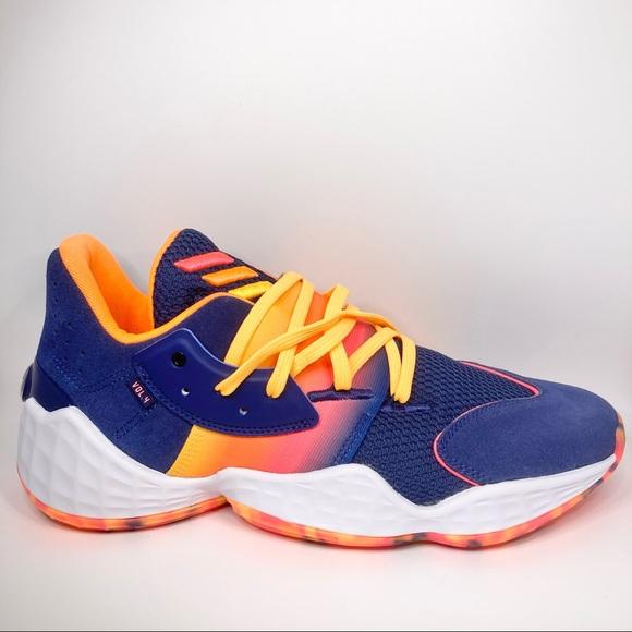 New Adidas Harden Vol. 4 Tech Indigo Sneaker